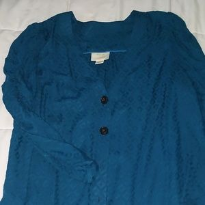 Teal blouse Maeve